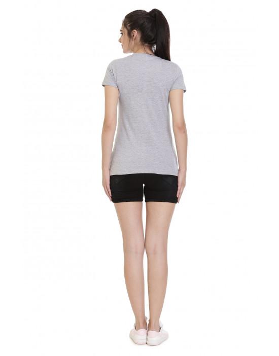 Women's Sports/Yoga V-Neck Plain Tee/Top