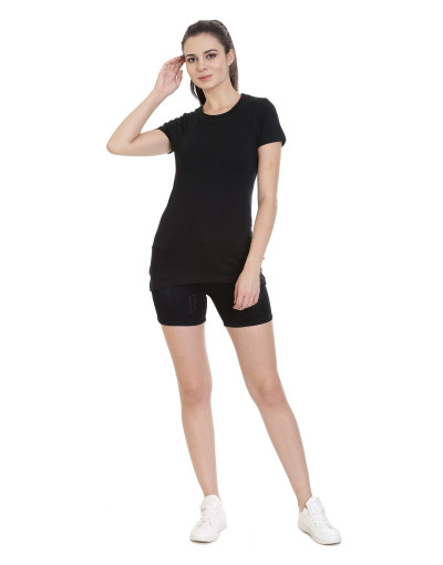 Women's Sports/Yoga/Casual Round-Neck Plain Tee/Top