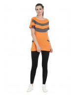 Women's Casual Long Yoga/Sports Tee/Top/Tunic with Pockets