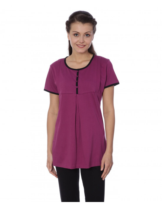 Women's Long Round Neck Feeding T-shirt - Goldstroms