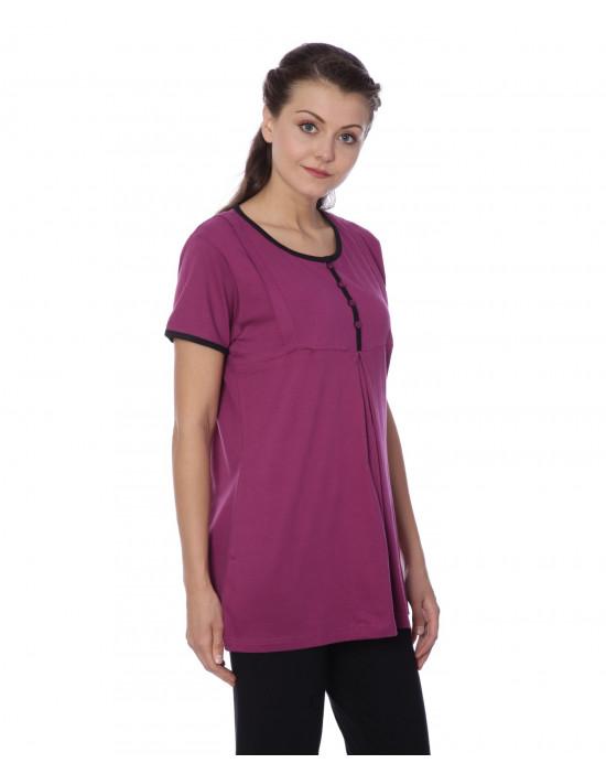 Women's Round Neck Maternity/Feeding/Nursing Tshirt/Top/Tee/Tunic