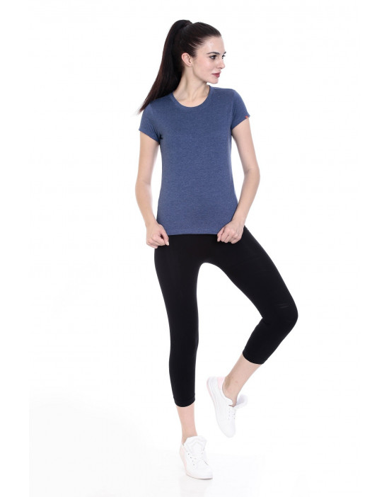 Women's Round Neck Half Sleeve Casual / Yoga Top - Goldstroms