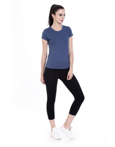 Women's Round Neck Half Sleeve Casual / Yoga Top