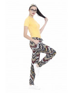 Womens Printed Harem Pant Slim Fit Style with Bottom Grip