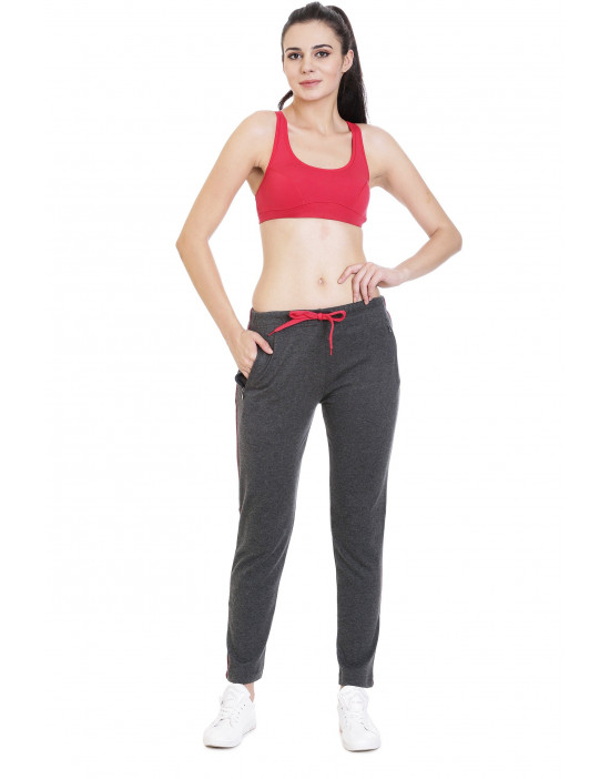 Women's Solid Yoga Track-Pant with Zipper Pocket - Goldstroms