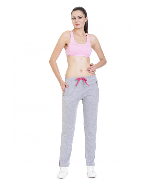 Women's Solid Yoga/Sports Jogger with Zipper Pocket - Goldstroms