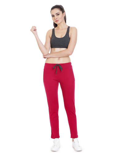 Women's Solid YogaTrack-Pant with Zipper Pocket - Goldstroms