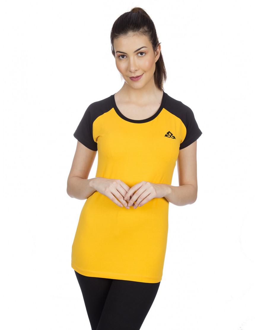 Women's Round Neck Raglan Sports/Yoga/Casual T-Shirt