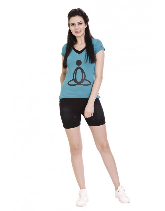 Printed Women's V-neck Casual / Yoga / Sports T-Shirt / Top
