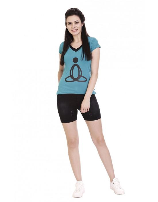 Printed Women's V-neck Casual / Yoga / Sports T-Shirt / Top