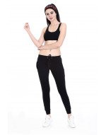 Women's Solid Yoga/Sports Track Pant/Jogger with Zipper Pocket and bottom grip