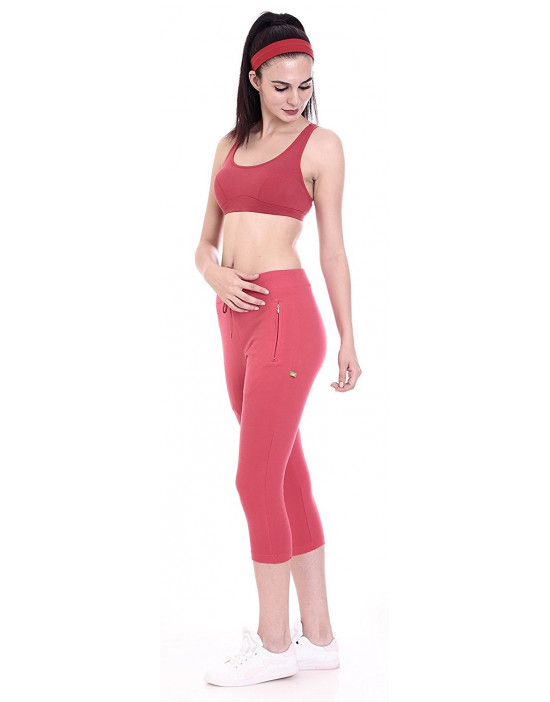 Women's Yoga/Sports Cotton rich Fabric Stretch 3/4 Pant
