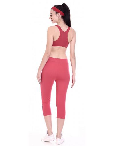 Women's Yoga/Sports Cotton rich Fabric Stretch 3/4 Pant