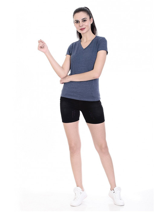Women's V-Neck Short Sleeve Casual T-Shirt