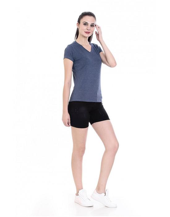 Women's V-Neck Short Sleeve Casual / Yoga Top