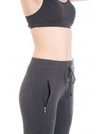 Women's Solid Short Yoga/Sports Track Pant/Jogger with Zipper Pocket and Ribbed Elastane