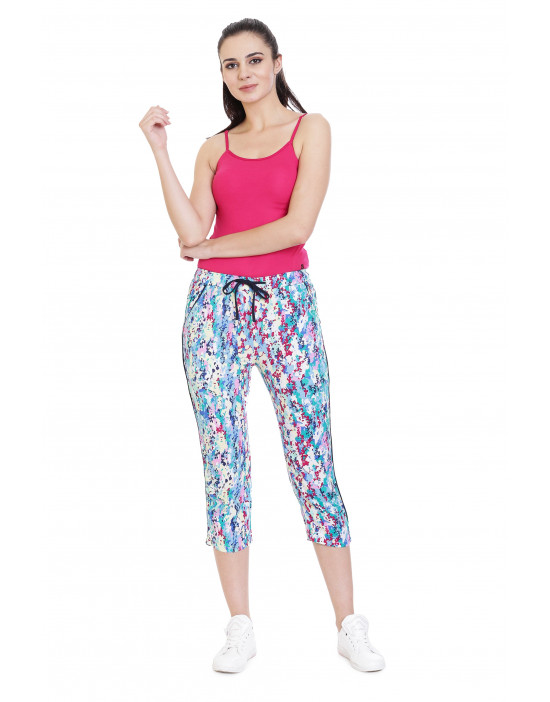 Women's Reyon Printed Capri with Pockets