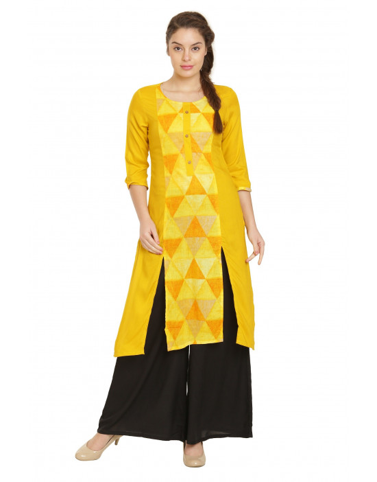 Minelli SweetHeart Neck Cotton Rayon Fabric Kurti