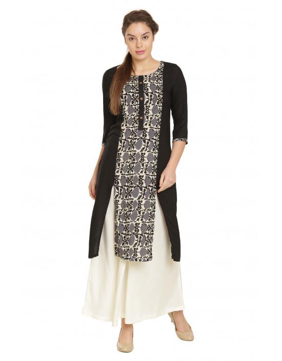 Minelli Women's Cotton Rayon Fabric Printed Kurti