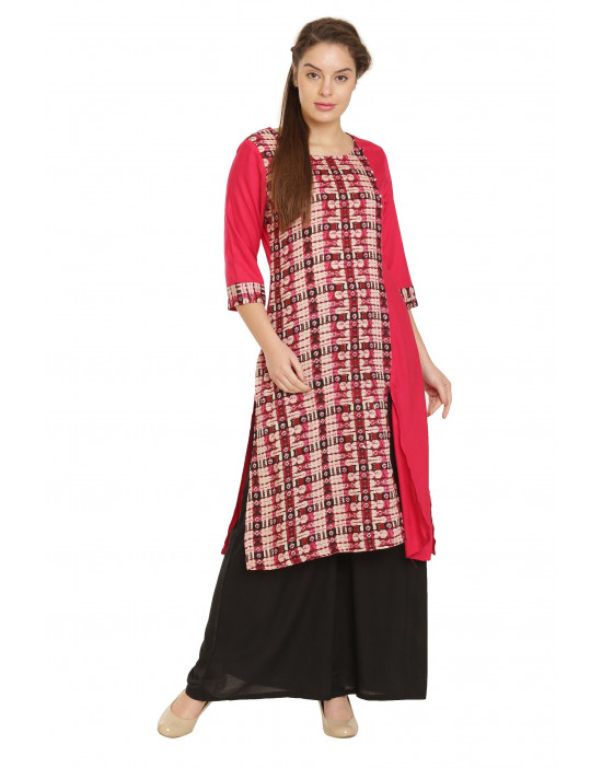 Minelli Beautiful Cotton Rayon Fabric Printed Kurti