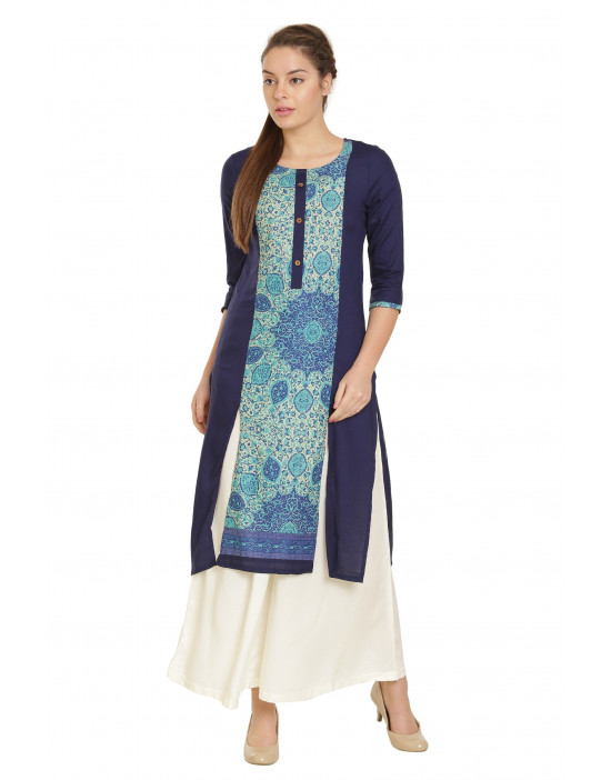 Minelli Womens Rayon Cotton Fabric Kurta