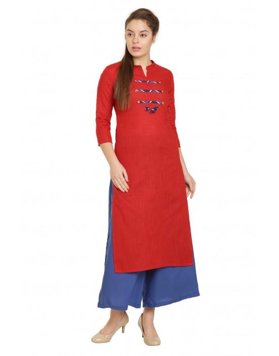 Minelli Women 3/4 Sleeve Cotton Printed Kurti