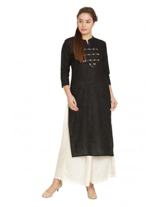 Minelli Women's Fabric Printed Cotton Kurti