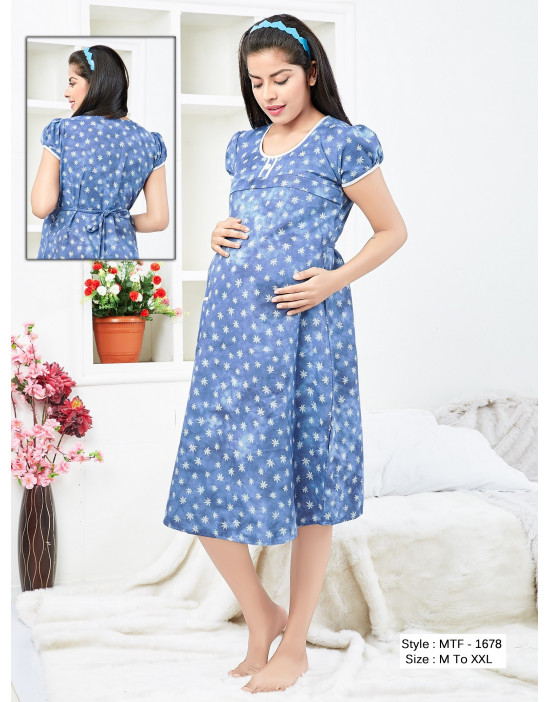 Minelli Maternity/Nursing/Feeding Kurti with Horizontal Zipper