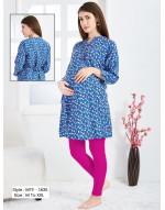 Minelli Maternity/Nursing/Feeding Kurti with Vertical Zipper