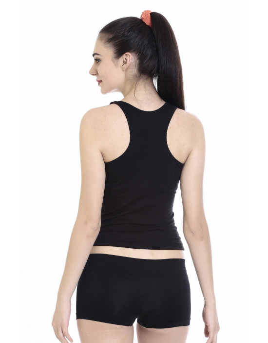 Womens Cotton Fabric Racer Back Tee
