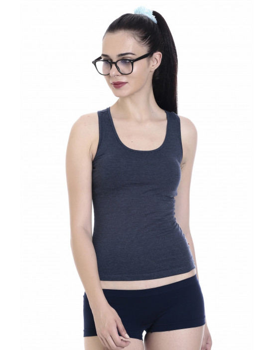 Goldstroms Womens Cotton Fabric Racer Back Tee