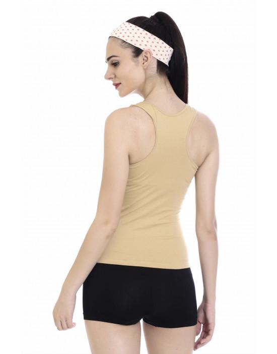 Goldstroms Womens Cotton Fabric Racer Back Tee
