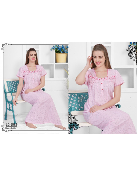 Minelli Women's Square Neck Cotton Nighties