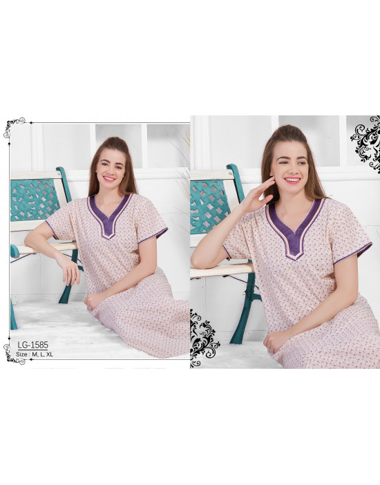 Minelli Beautiful V-Neck Cotton Nighties