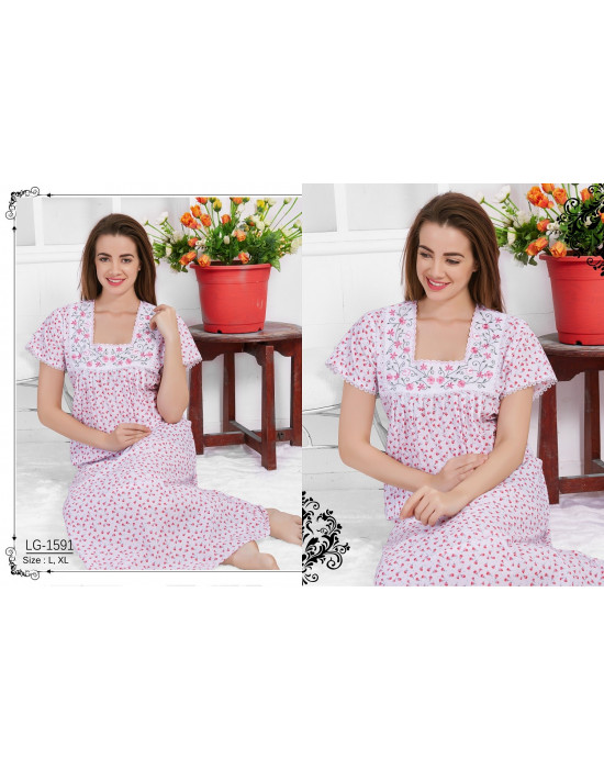 Minelli Beautiful Square Neck Cotton Nighties