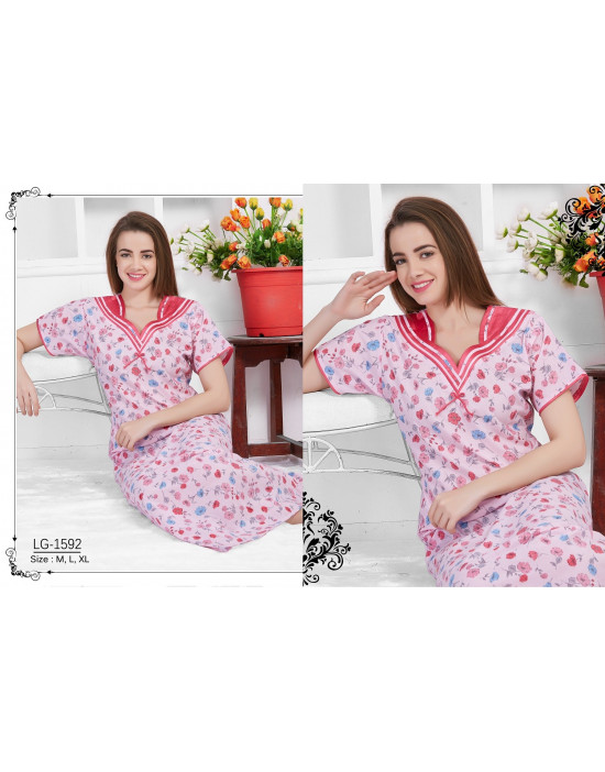 Minelli Beautiful Sweetheart Neck Cotton Nighties