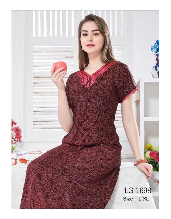Minelli Beautiful V-Neck Reyon Fabric Nighties