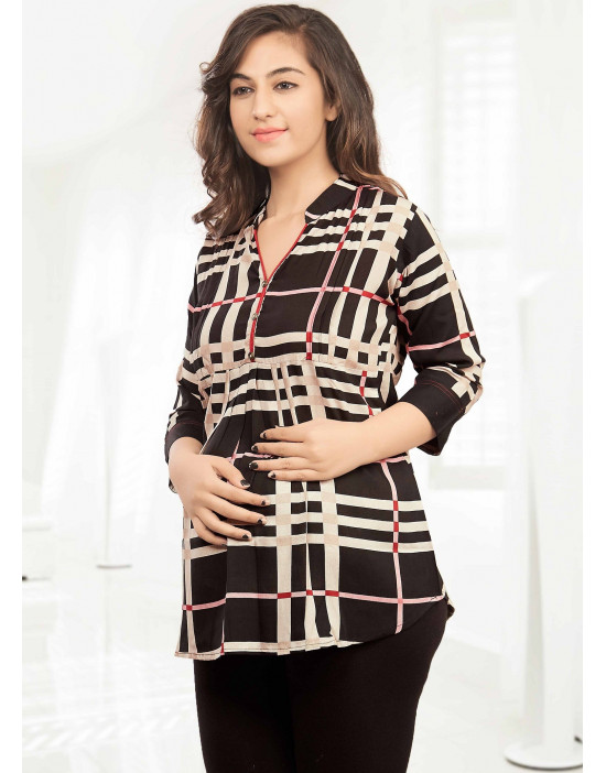 Minelli Pre & Post Maternity/Feeding Short Kurtis