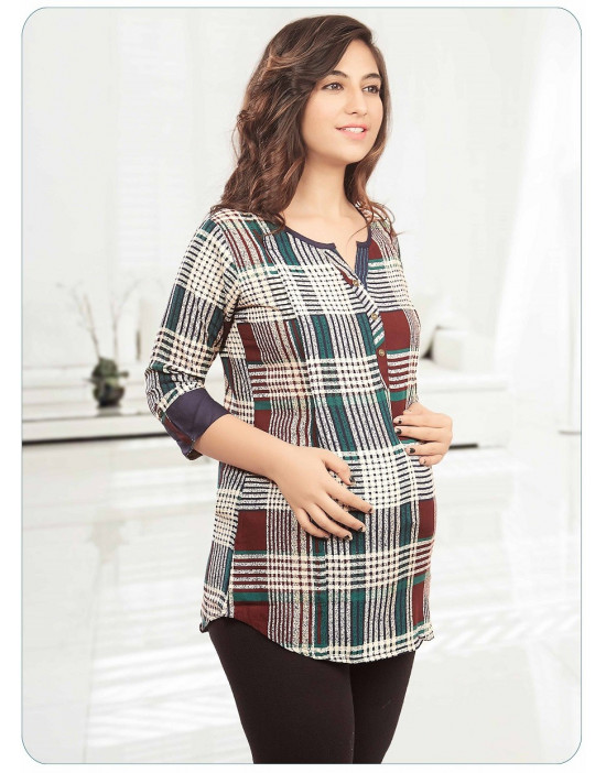 Minelli Women's  Maternity/Feeding Short Kurtis
