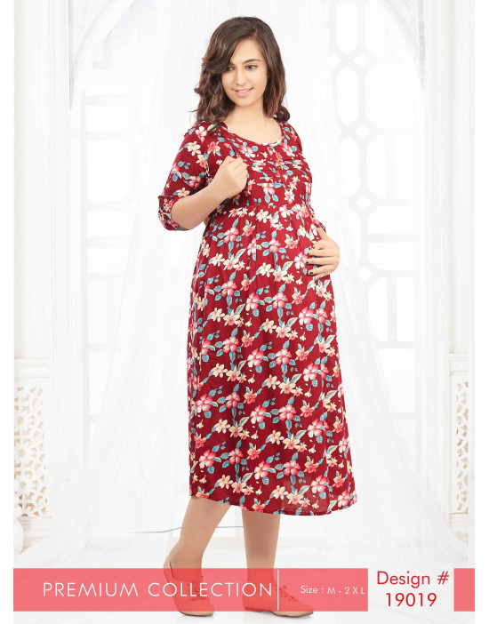 Minelli Maternity With Vertical Zipper Kurtis