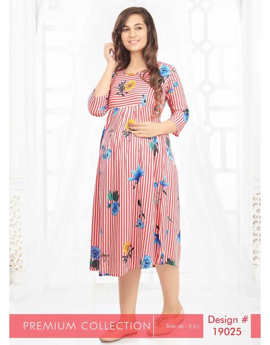 Minelli Maternity With Vertical Zipper Kurtis