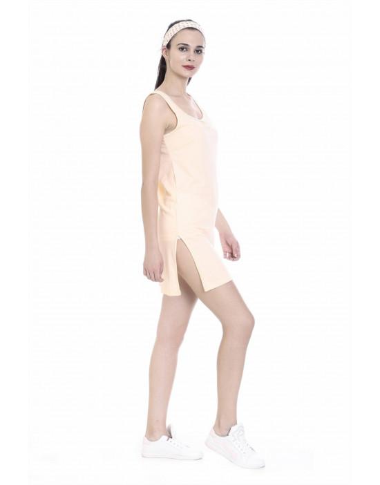 Womens Cotton Fabric Midi Slip - Broad Strap