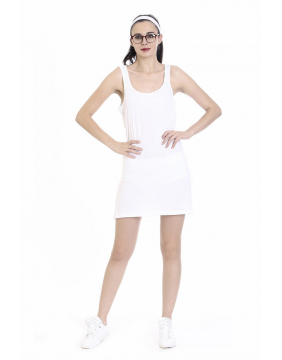 Womens Cotton Fabric Midi Slip - Broad Strap