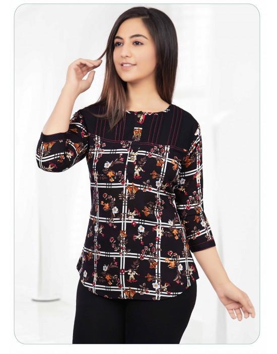 Minelli Women's Sweetheart Neck Printed Tunics