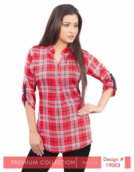 Minelli Ladies 3/4th Sleeves Cotton Printed Tunics