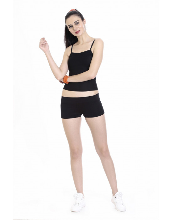 Women's Long Fabric Camisole Adjustable Straps