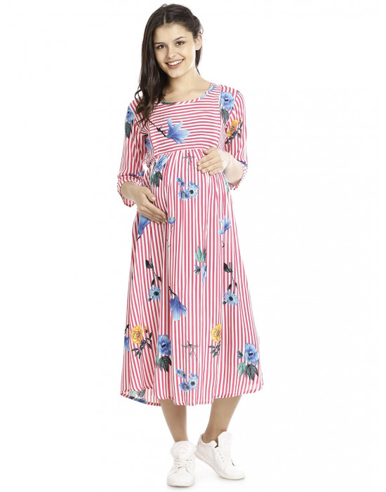 Minelli Long Maternity Gown for Women