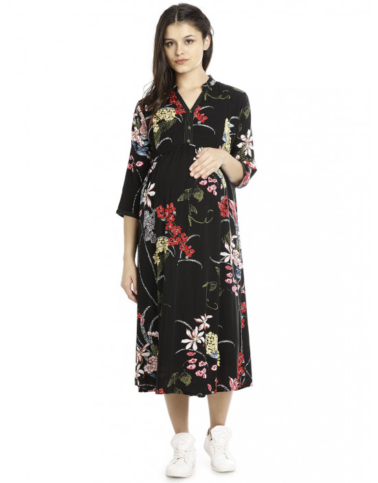 Minelli Long Maternity/Nursing Gown for Women