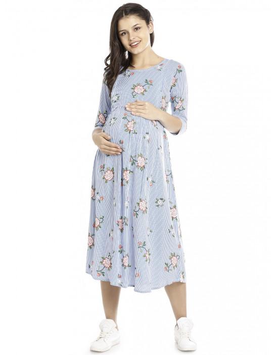 Minelli Long Maternity/Feeding Gown for Women