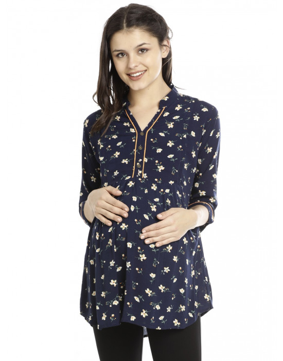 Minelli Pre & Post Nursing Cotton Tunic For Women